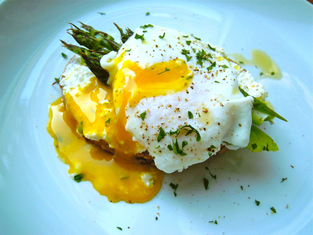 Roasted Asparagus & Poached Eggs On Toast Recipes — Dishmaps